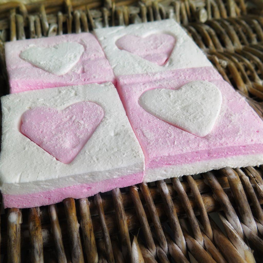 marshmallow puzzle hearts 4 flat